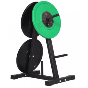 A frame fitness bumper plate storage rack