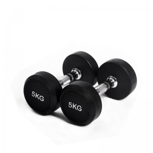 China 1-50kg Rubber Dumbbell Set/ Rubber Hex Dumbbell/ ladies Dumbbell Supplier