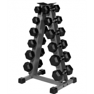 China 6 Pair Triangle Dumbbell Rack Stand Free Weight For Sport Trainer Manufacturer