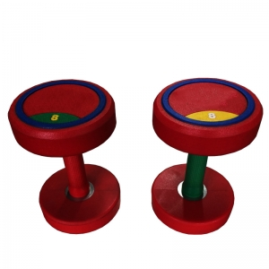 China Cheap Round Head PU Dumbbell Set For Sale Supplier