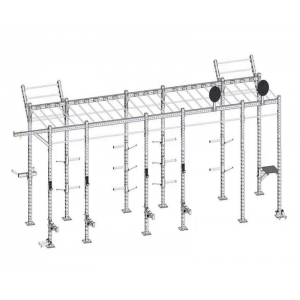 China CF Rig And Rack With Accessories Free Standing Chin Up Squat Training Rack Wholesale Supplier