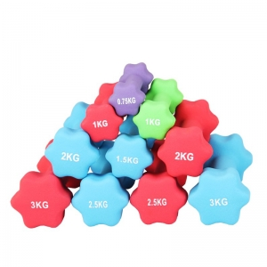 China Fitness Flower Shaped Neoprene Dip Ladies and Kids Aerobic Dumbbell Set Pairs Supplier
