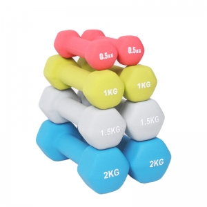 China Hex Dumbbell Sets Neoprene Coated Supplier