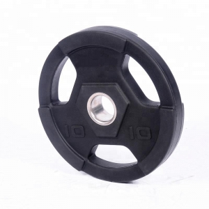 China Olympic 3-Hole Grip PU Weight Plate Supplier
