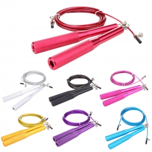 China Supply Wholesale Adjustable 10 Foot Long Speed Skipping Jump Rope With Aluminum Handle