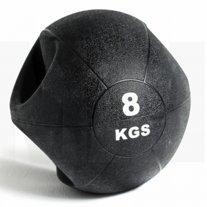 China Textured Surface Medicine Ball with Handle Supplier