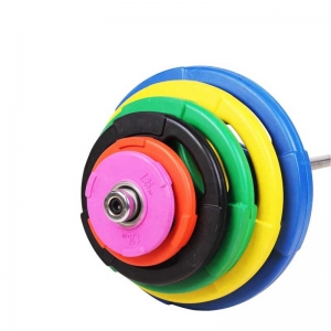 China Black Rubber Tri Grip Weightlifting Plates Supplier
