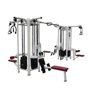 China supplier factory commercial 8 stations multi gym integrated strength training machine