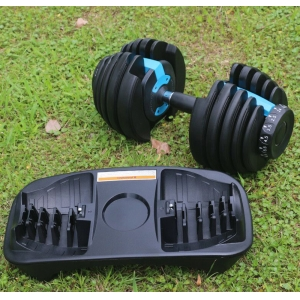 Custom 24kg dumbbell adjustable dumbbell 52lb 90lb adjustable dumbbell
