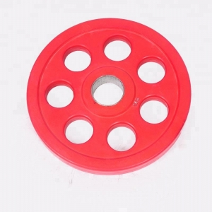 Fitness 7 hole rubber barbell weightlifting plate