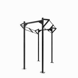 Power Rack With Optional Dip Attachment CF For Pull Up Commercial High Capacity Power Cage