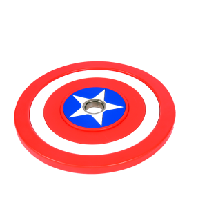 Wholesale Customize Captain America Fixed 10kg-50kg rubber barbell plates Bumper barbell weight Plates