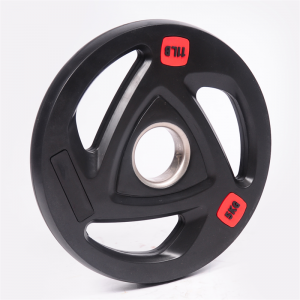 Wholesale black 3-hole rubber weight plate China factory supply