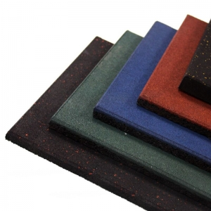 Chine colorful gym sport SBR EPDM rubber floor tiles mat usine