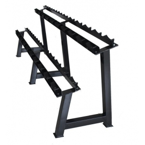 China 2 tier 10 pairs dumbbell rack dumbbell display rack factory