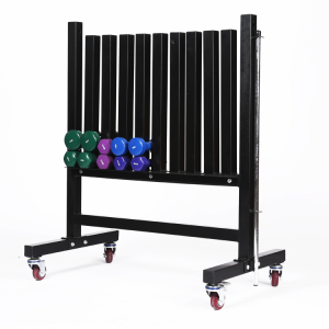 China 2019 Vinyl Dipping Dumbbell Rack with Wheel factory