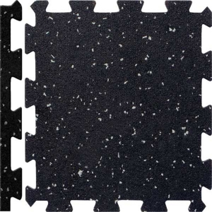 China Black Recycled Rubber Floor Tiles Mats High Quality Gym Rubber Flooring Mats Interlock rubber mat factory