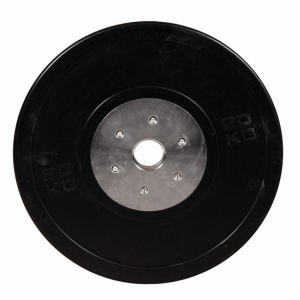 Black rubber competition bumper plates cross fitness products China manufacturer