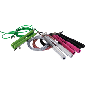 Colorful body building steel wire jump rope