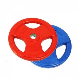 China Colorful Rubber Tri-grip Weight Plates Supplier