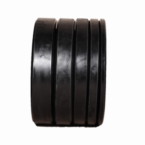 China High Quality Weight Lifting Solid Black Rubber Bumper Plate From China factory