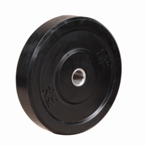 China China Fitness Gym Workout Weight Lifting Barbell Plate Black Rubber Bumper Plates factory
