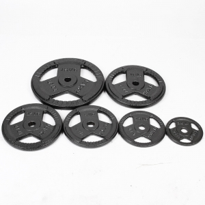 China China Cast Iron Tri-grip Weight Plates Supplier factory