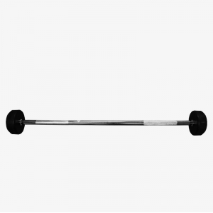 China Rubber Fixed Straight Barbell Set Supplier