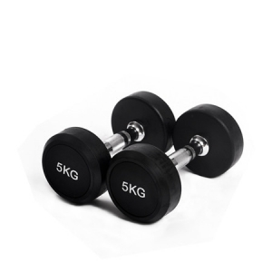 China Rubber Round Head Dumbbell Sets Supplier