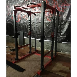 Adjustable Strength Training Fitness Power Rack with Attachment