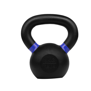 China Custom fitness powder coated cast iron kettlebell factory