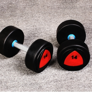 China supply Customize Logo PU Dumbbells