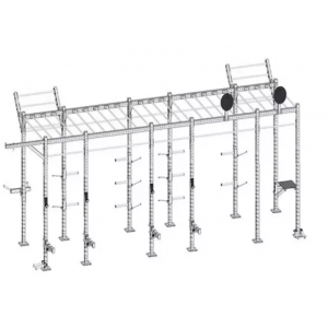 Commercial Gym Equipment Wall Mounted Free Standing Rig , cross fit rig
