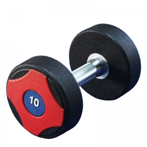 Commercial use weightlifting customized logo portable PU urethane dumbbell sets