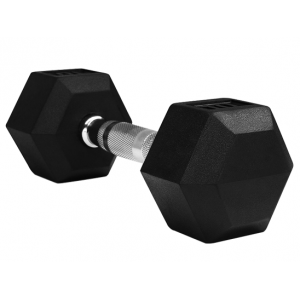 Cross Fitness Gym Equipment Rubber Coated Hex Dumbbell