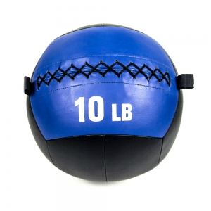China Custom PU Leather Soft Medicine Wall Ball For Weight Training factory