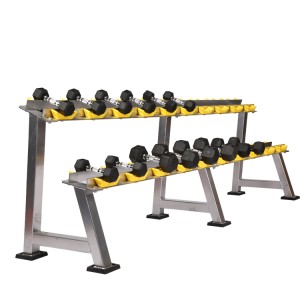 China Fitness Dumbbell Rack Gym Dumbbell Set with Rack factory