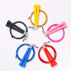 China Fitness plastic handle bearing jump rope speed rope steel wire from China factory