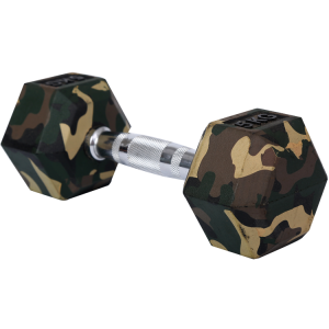 Rubber hex dumbbells with camouflage color
