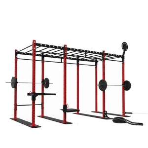 Functional Multi-Grip Free-Standing Rigs Power Rack With Lat/Row And Cable Crossover Pull Up Rig And Rack System Fitness CF