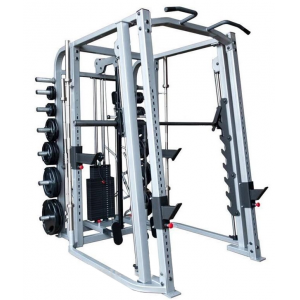 Gym 10 Barbell Bars Stand Storage Rack Adjustable Squat Rack