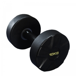 Gym fitness PU dumbbell Round head dumbbell with customize logo