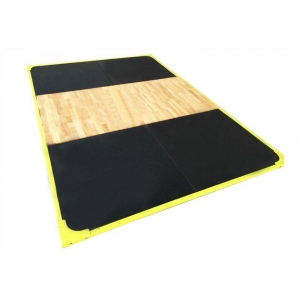 La fábrica de China Gym strength training 2m*3m*3cm Rubber Wooden Weightlifting Platform