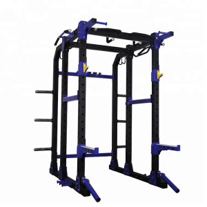 Chine Multifunctional Fitness Weightlifting Equipment Power  Rack With Lat Attachment Commercial Gym for strength power cage usine
