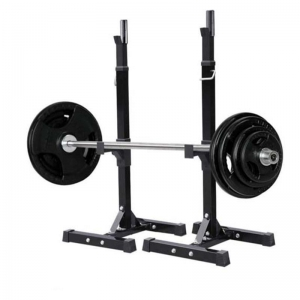 Portable Rack for Home Gym Exercise Fitness Workout Training Adjustable Standard Solid Sturdy Steel Squat Stands