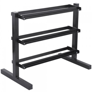 China Hot Sale Custom 3 Tier Hex Dumbbell Rack factory