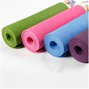 TPE Yoga Mat Lightweight Eco-friendly High Density Professional Non Slip for Workout Fitness and Pilates