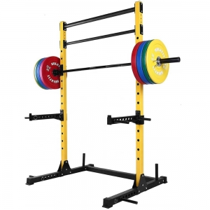 Wellshow Sport Pull Up Bar Dip Stands Station Bar Squat Rack