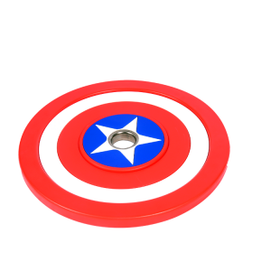China Wholesale Customize Captain America Fixed 10kg-50kg rubber barbell plates Bumper barbell weight Plates factory