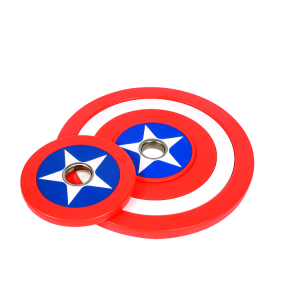 Crossfit Weightlifting Captain America PU Barbell Bumper Plate